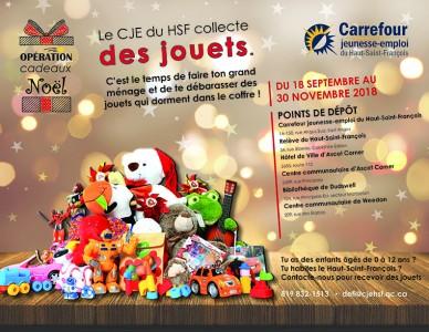 Opération Cadeaux de Noël - Cueillette de jouets