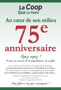 75e anniversaire de la Coop La Patrie